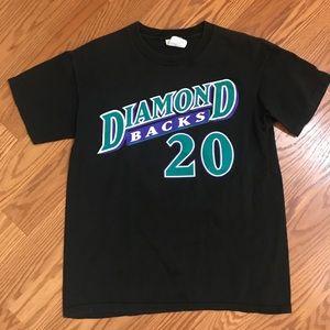 L BOYS DIAMONDBACKS TEE GONZALEZ #20 IN BLACK